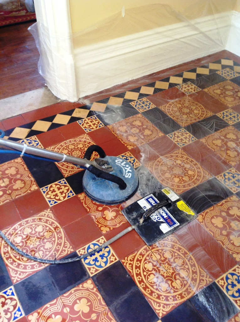 Victorian Tiled Floor Spinning and Steaming Harston 6