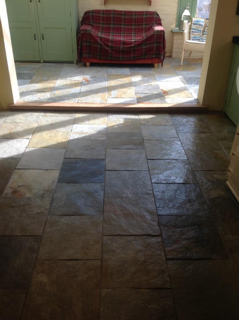 Slates Tiles Hemingford Grey Before Cleaning