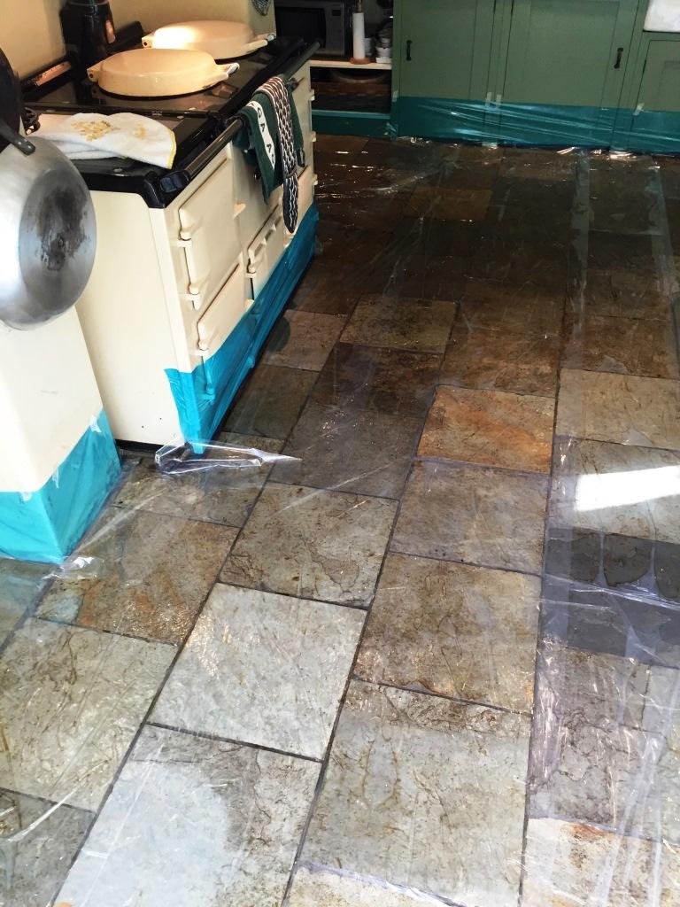 Slates Tiles Hemingford Grey During Cleaning