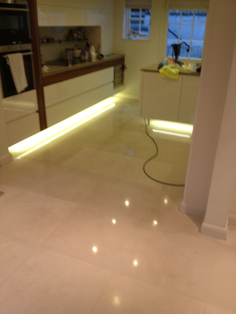 Limestone Tiled Floor After