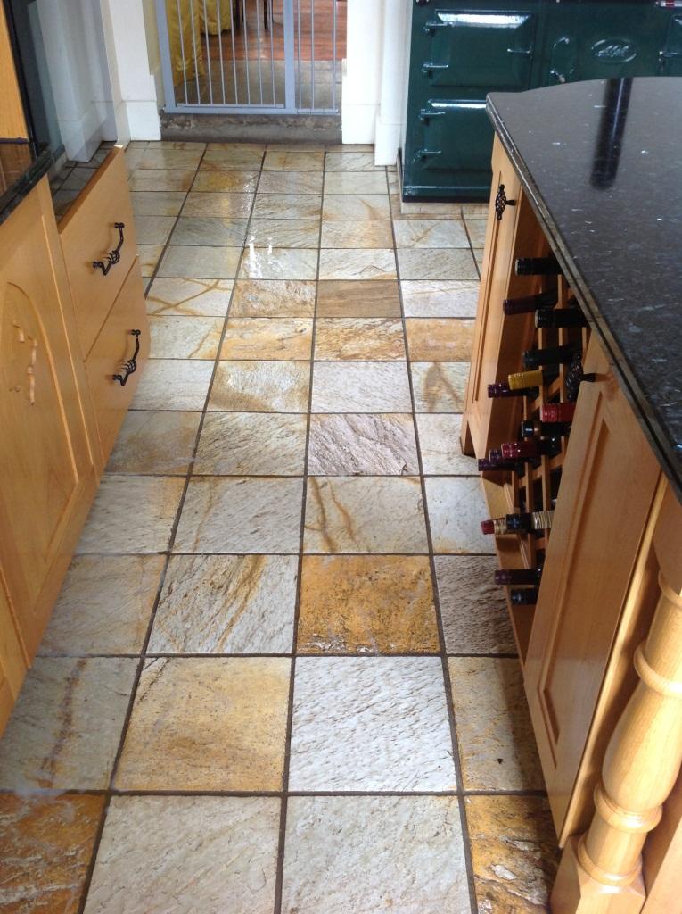 Park House Harston Slate Tile Before