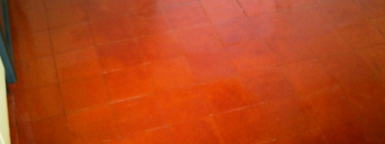 Quarry Tiled Kitchen Floor Cleaned and Sealed in Cambridge