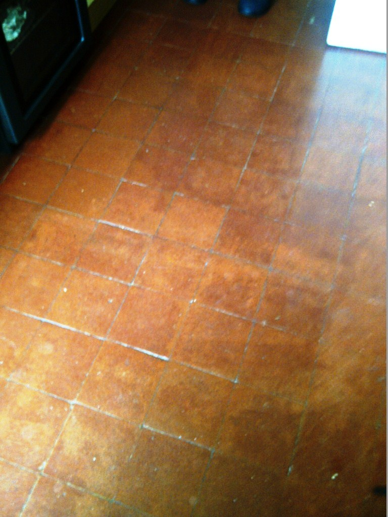Quarry Tiled Floor Cambridge Before
