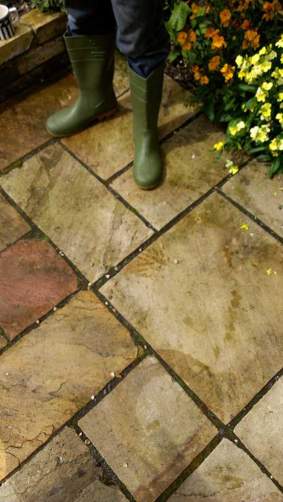 Sandstone Patio Before Cambridge 1