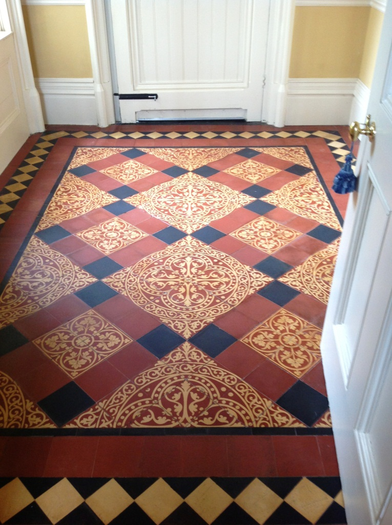 Victorian Tiled Floor Harston Completed 8