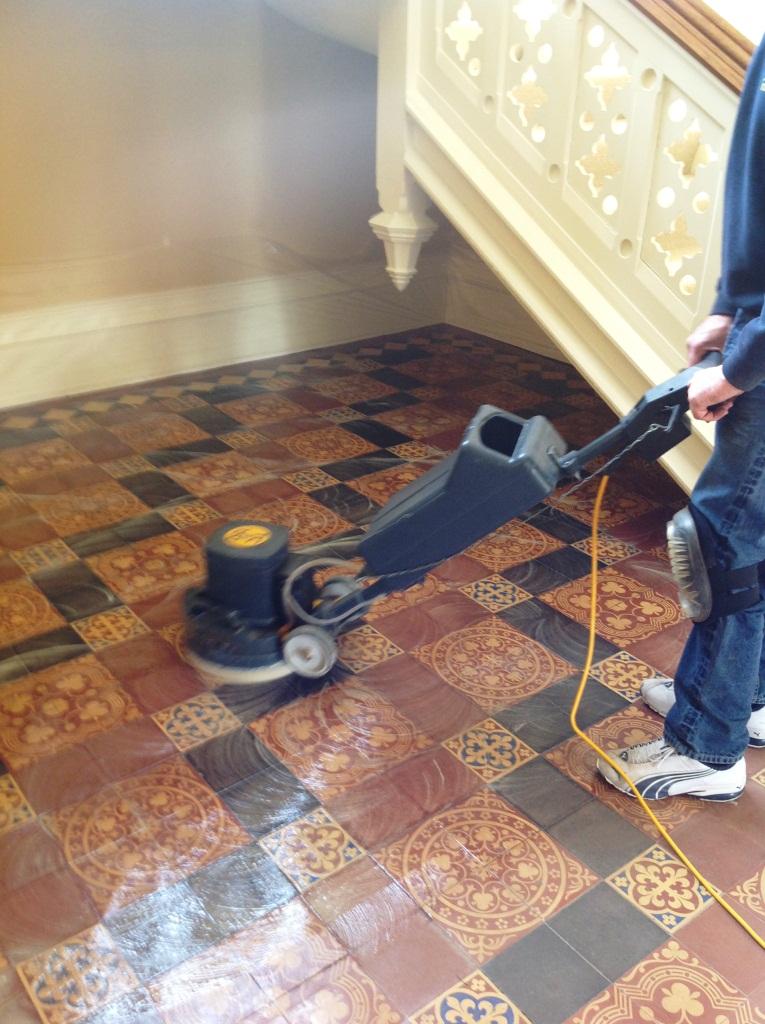 Victorian Tiled Floor Scrubbing Harston 4