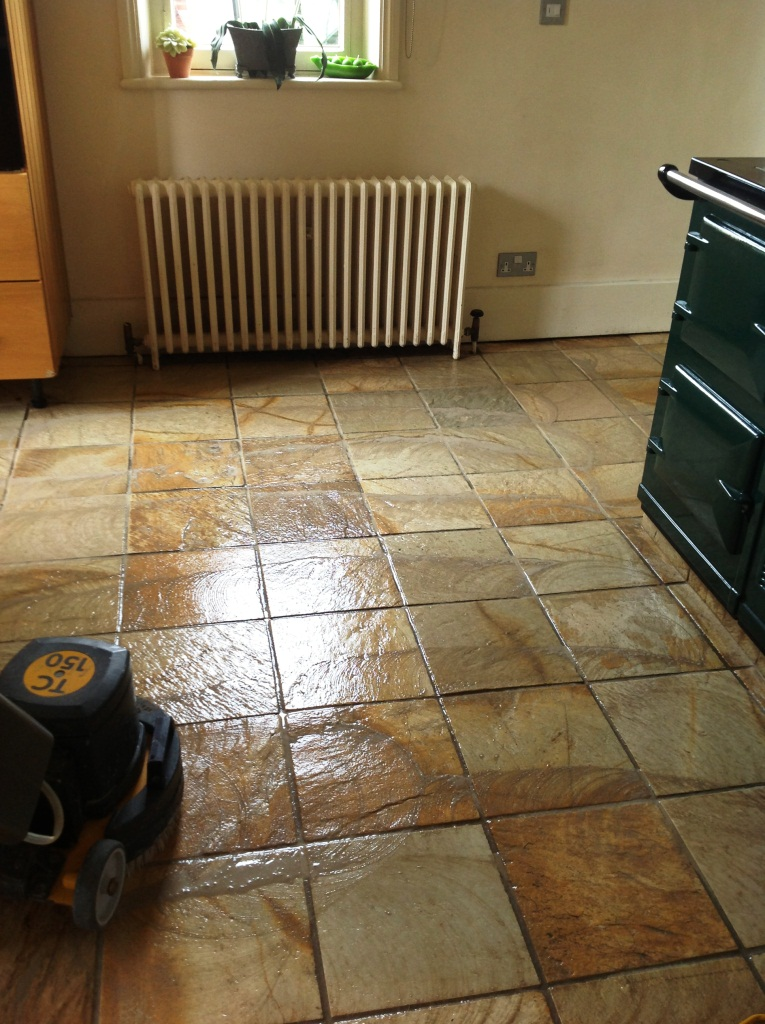 Harston Slate Tiled Floor Cleaning 2