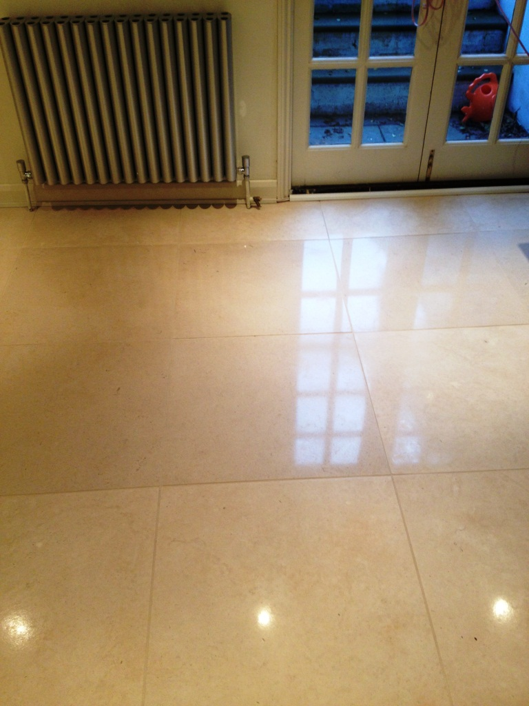 Polishing Limestone Tiles in Cambridge After Cleaning