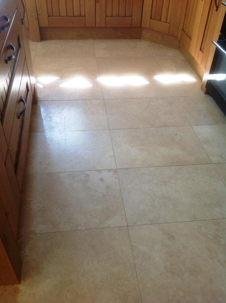 Travertine floor before polishing in Great Wilbraham Cambridge