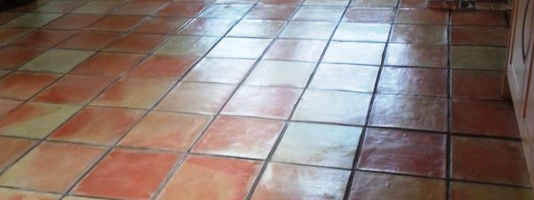 Dull Terracotta Tiles Restored in Great Gransden