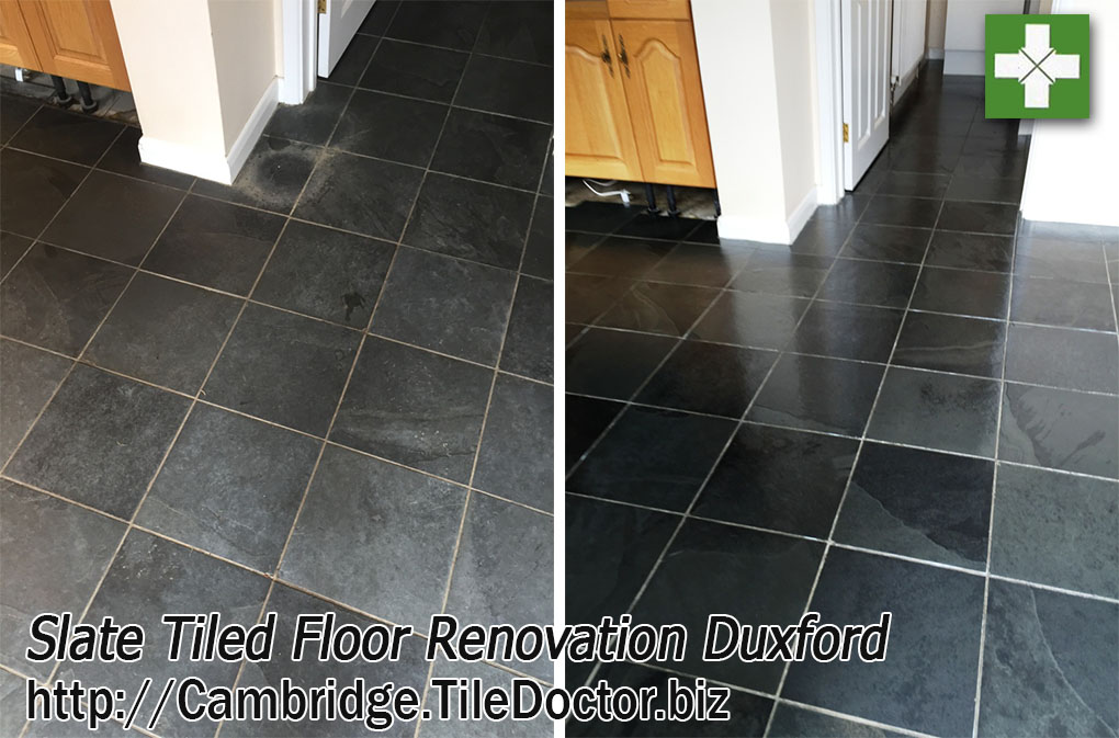 Renovating Dull and Dirty Slate Tiles in Duxford