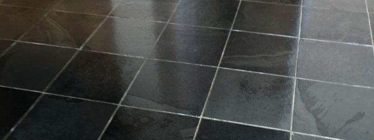 Dirty and Stained Slate Tiles Refreshed Near Duxford