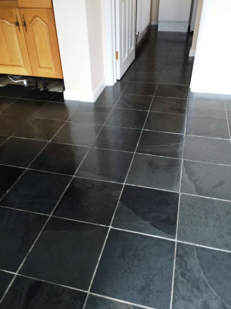 Slate Floor Duxford After Cleaning and Sealing