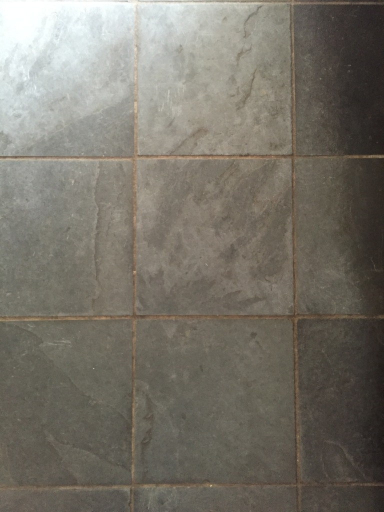 Slate Floor Duxford Before Cleaning