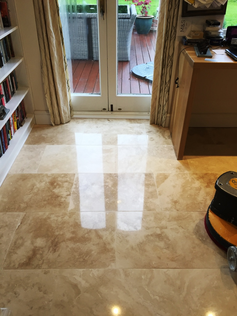 Travertine Floor After Cleaning Cambridge