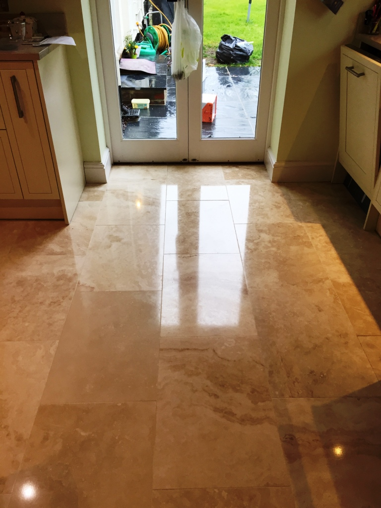 Travertine Kitchen Floor After Cleaning Cambridge