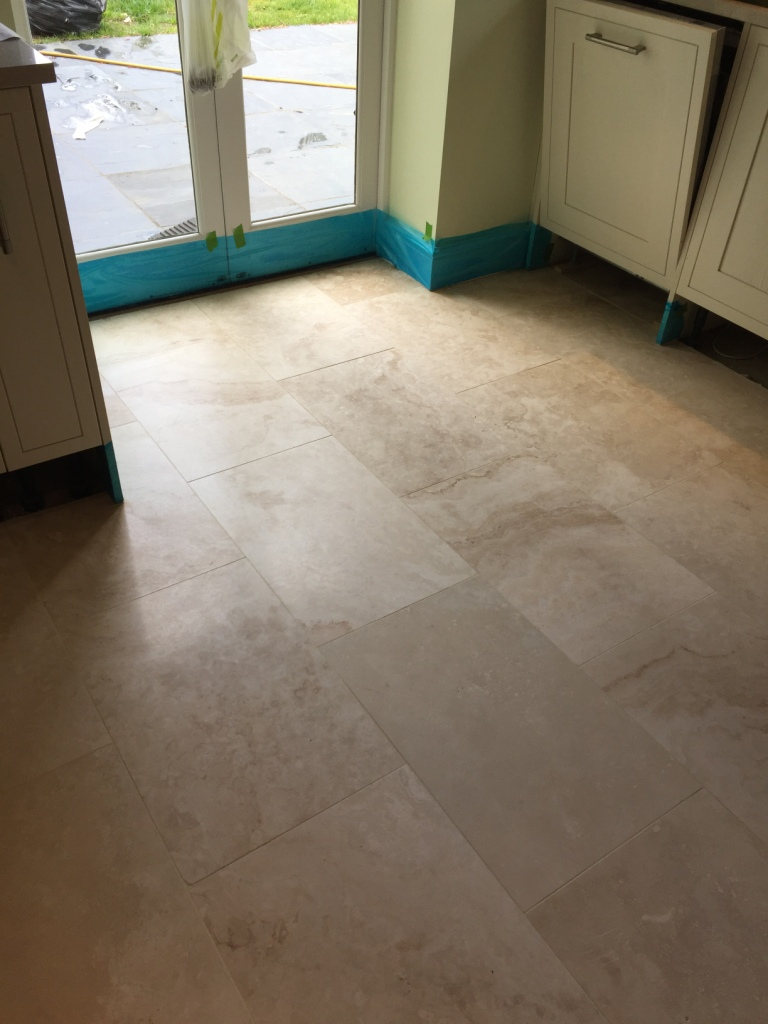 Lustre Restored To Large Area Of Travertine Tiles In Cambridge Cambridge Tile Doctor