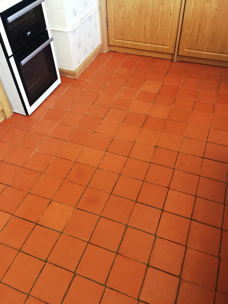 Kitchen Quarry Tiled Floor After Restoration Cambridge