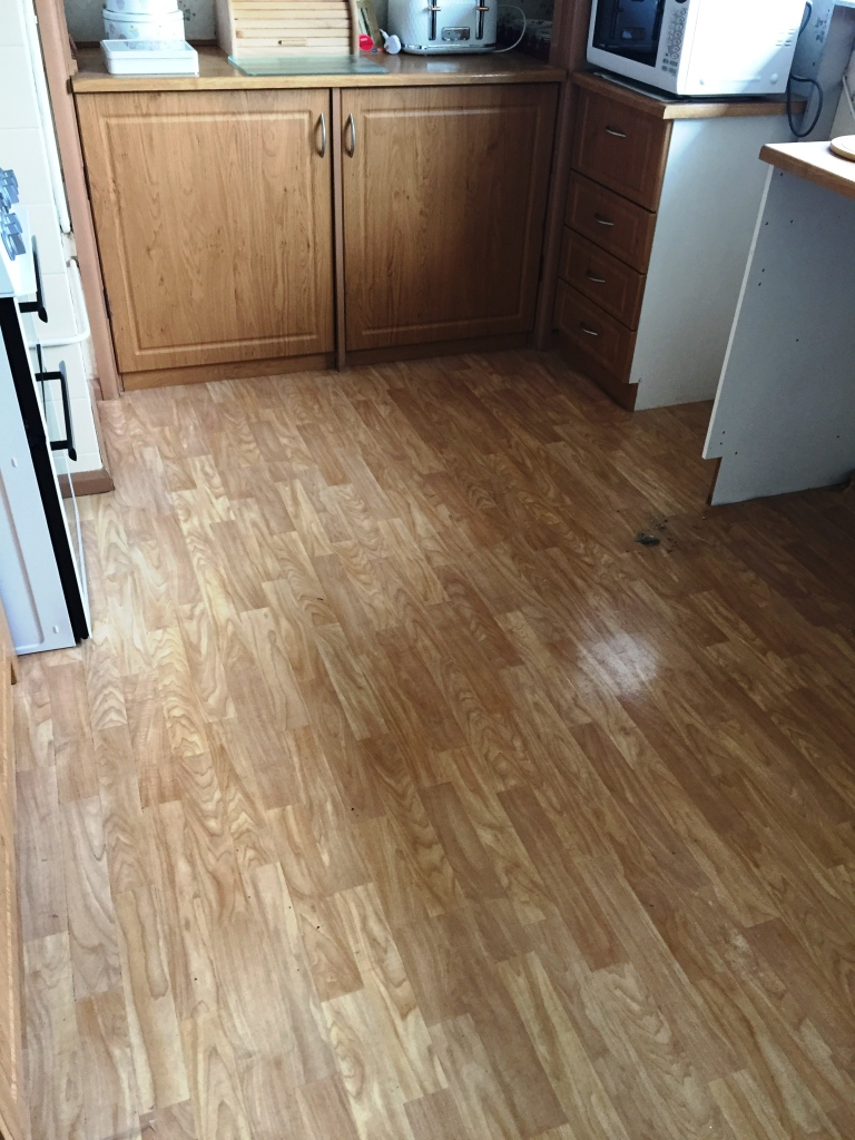 Kitchen Quarry Tiled Floor Covered with Lino Cambridge