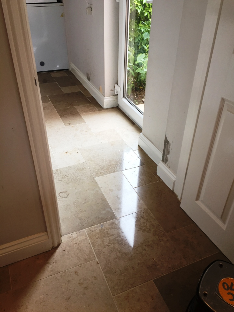 Limestone Tiled Utility After Polishing Boxworth