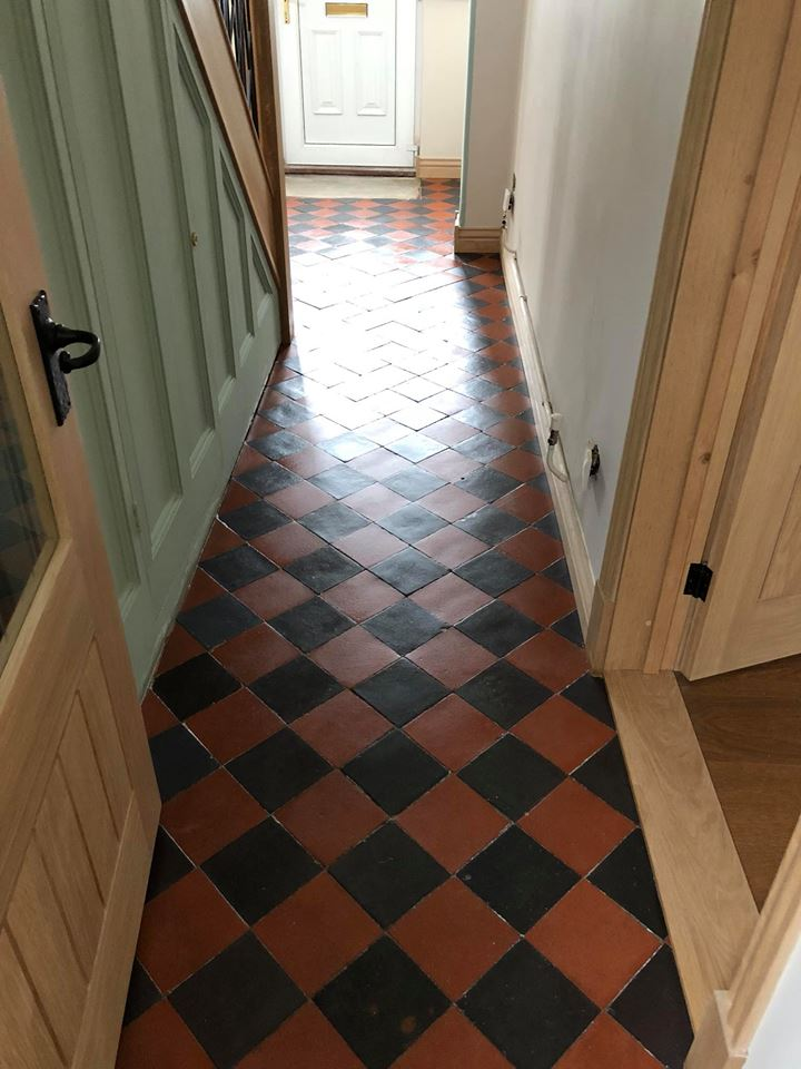 Victorian Tiled Hallway After Restoration Great Paxton