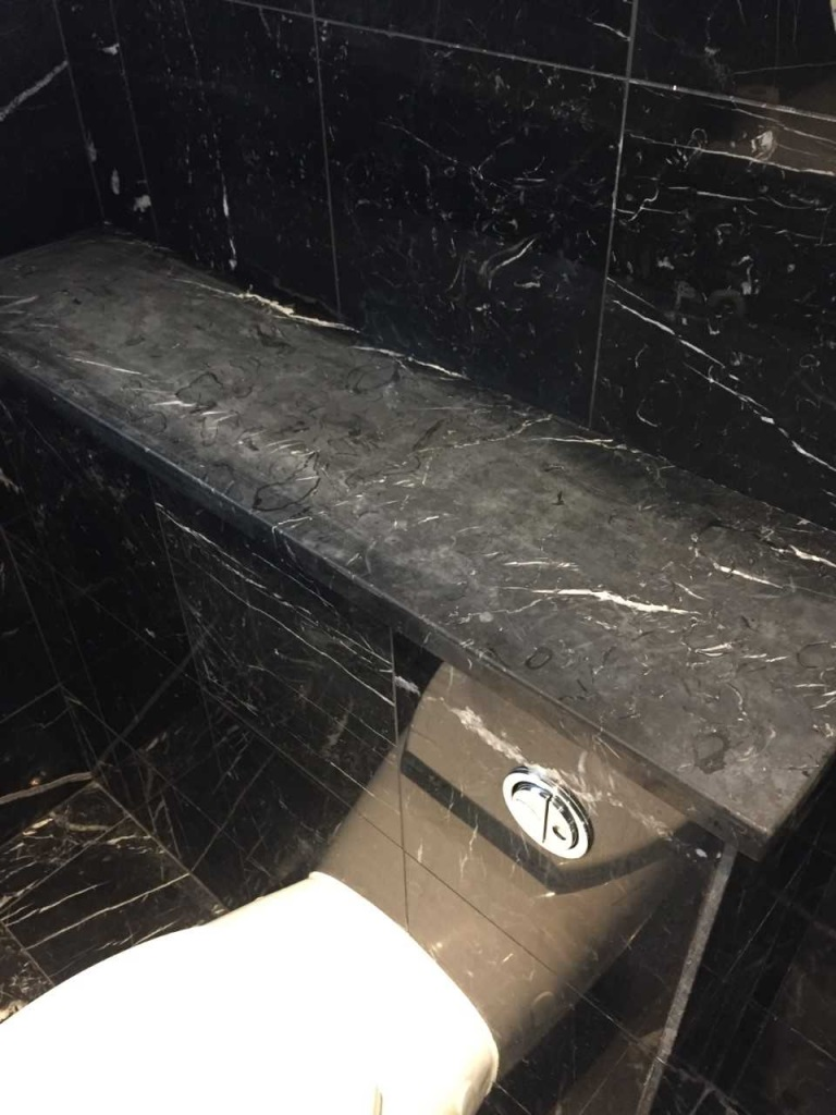 Marble Bathroom Tile Surround Cambourne Before Restoration