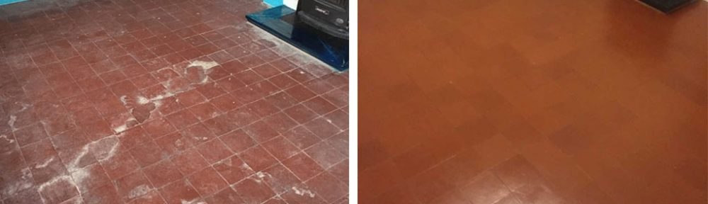 Quarry Tiled Floor Before After Renovation Wicken