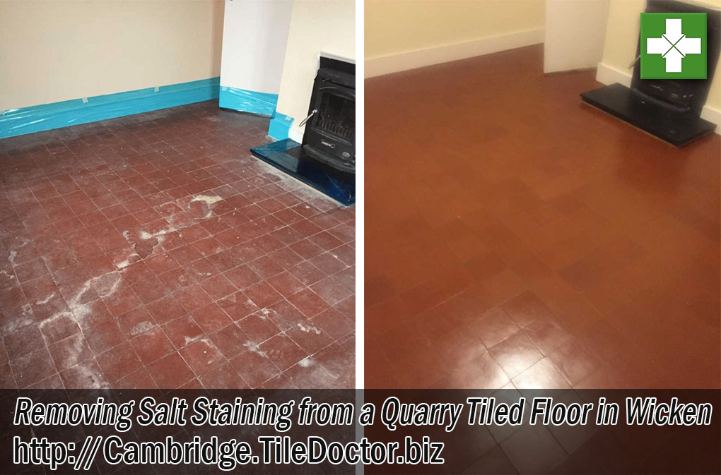 Quarry Tiled Floor Before After Renovation Wicken