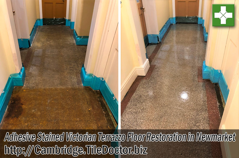 Victorian Terrazzo Floor Tiles Before After Renovation Newmarket