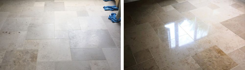 Large Limestone Floor Polished to a Deep Lustre in Boxworth