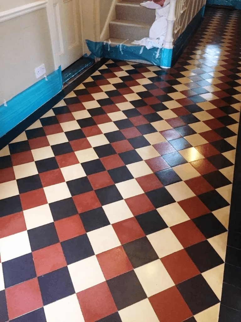 Victorian Tiled Hallway After Cleaning Girton