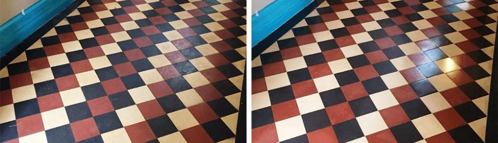 Victorian Tiled Hallway Floor Repaired and Restored in Girton