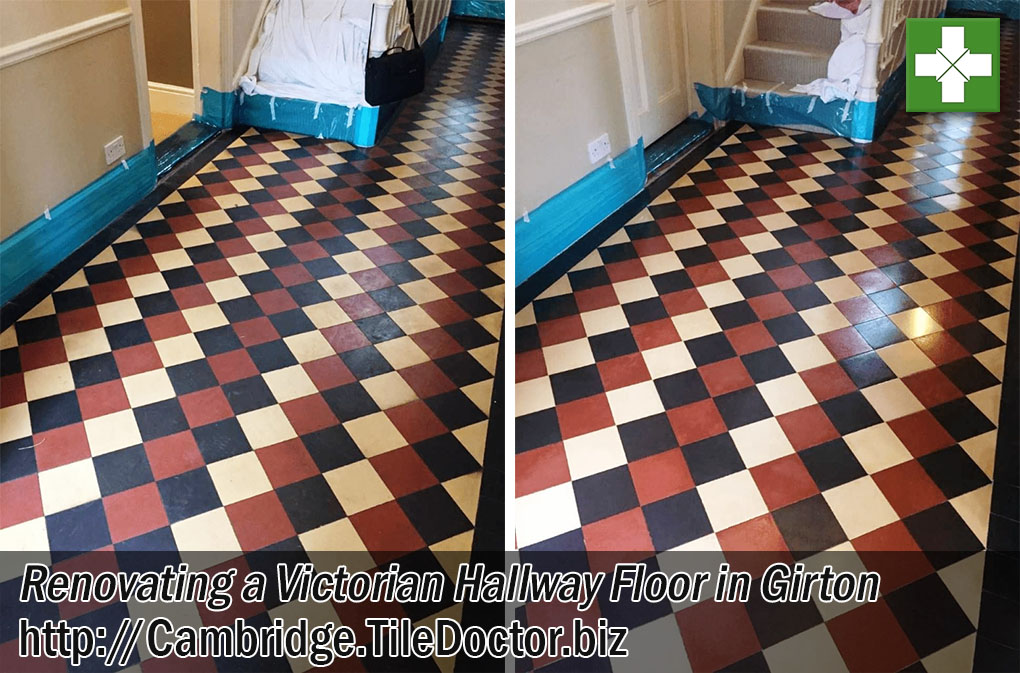 Victorian-Tiled-Hallway Floor Renovated in Girton