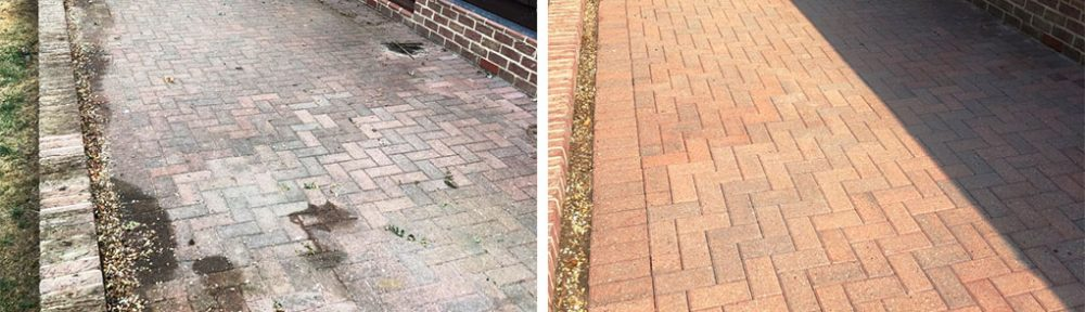 Cleaning and Re sanding a Block Paved Patio in Duxford