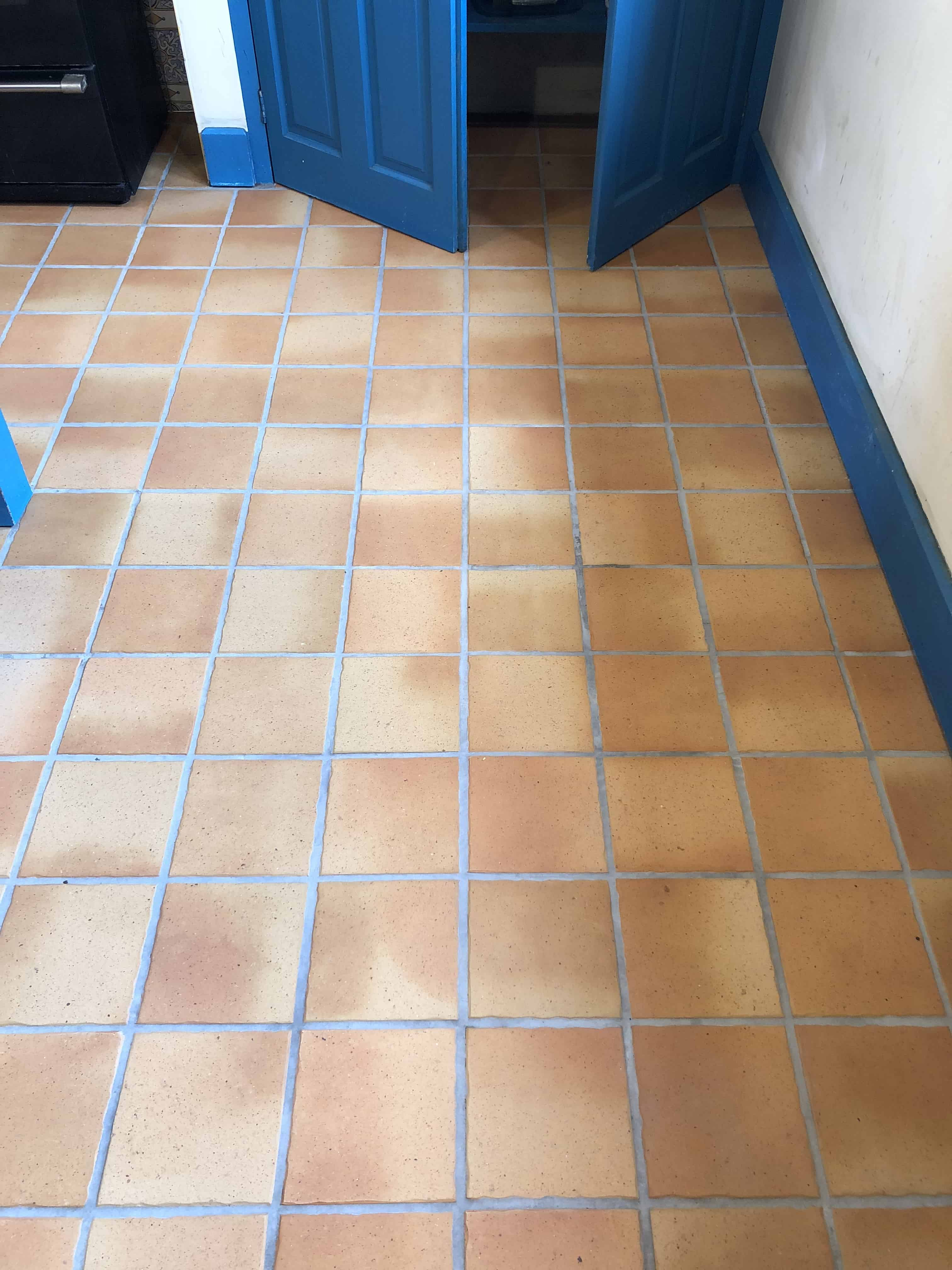 Porcelain Tiled Kitchen Floor After Cleaning Ely