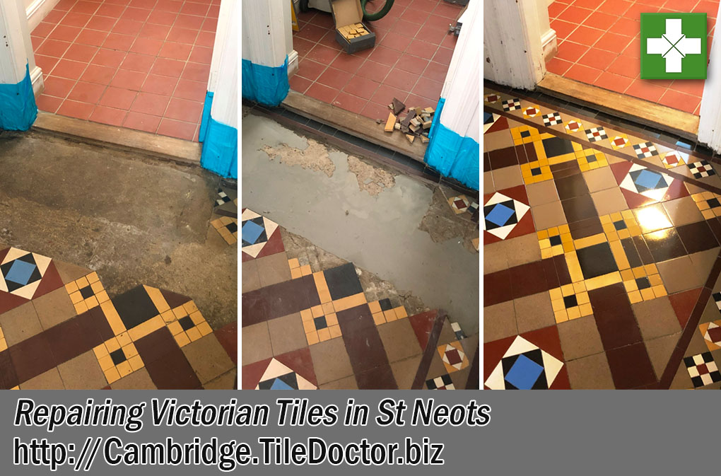 Victorian Floor Before During After Restoration St Neots