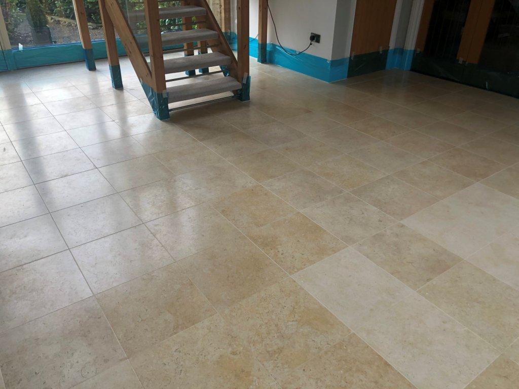 Polished Marble Floor Before Polishing Great Shelford