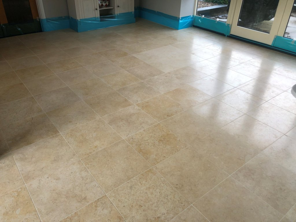 Polished Marble Floor Before Polishing Great Shelford