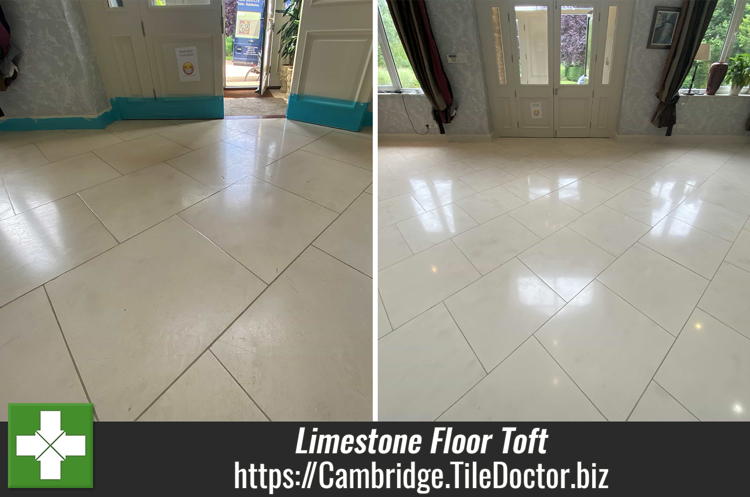 Cleaning a Stunning Pale Limestone Hallway Floor in Toft