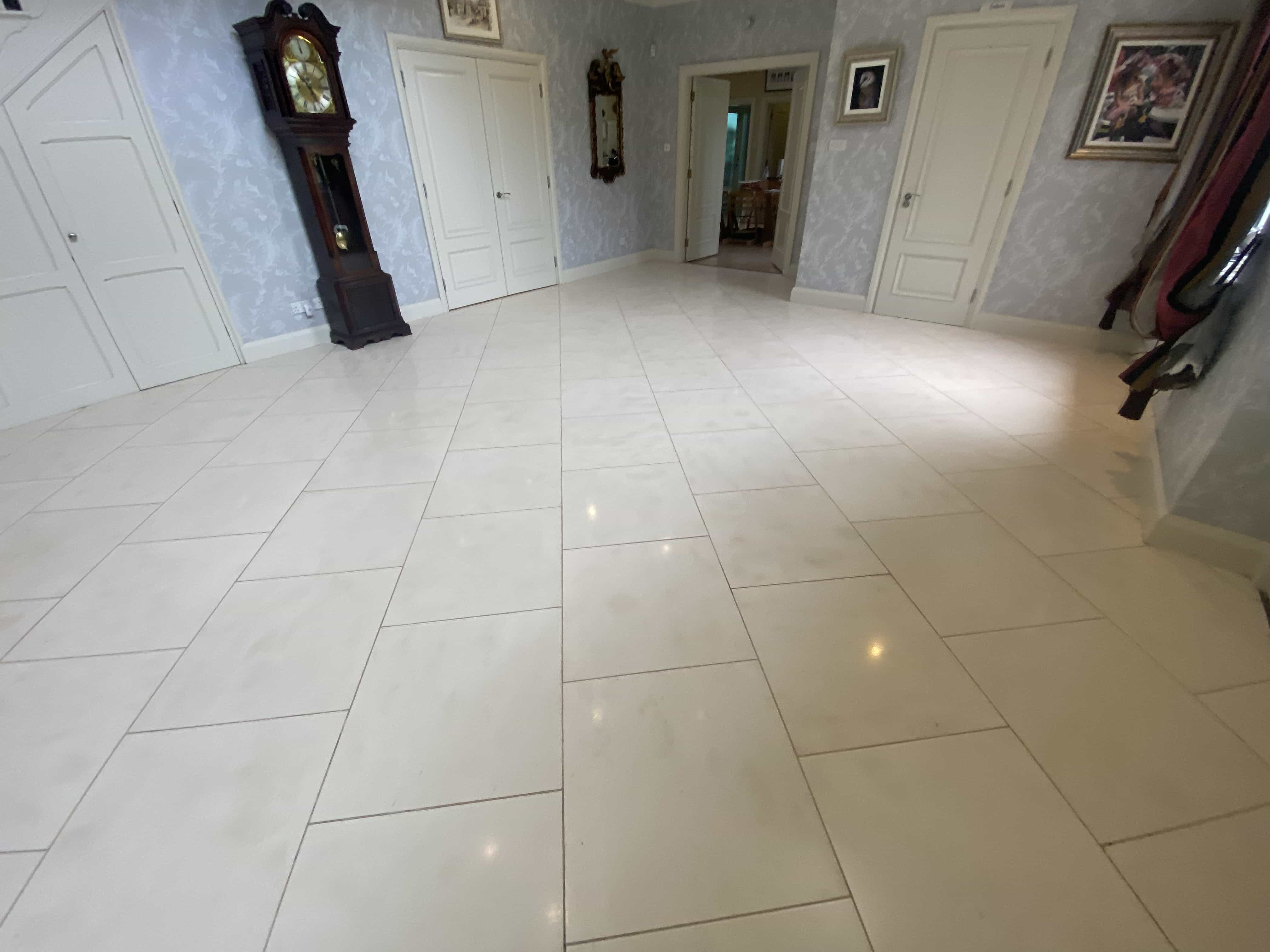 Polished Limestone Floor After Cleaning Polishing Toft